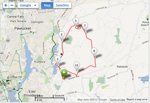 Screen Shot - Castle half-marathon map